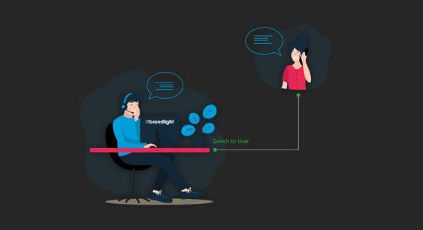 تستخدم فرق خدمة العملاء واجهة الموقع الإلكتروني نفسها لتلقي الطلبات الهاتفية والإجابة على الاستفسارات