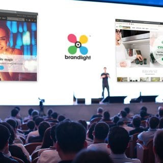 Brandlight Invstor Presentation On The Big Screen