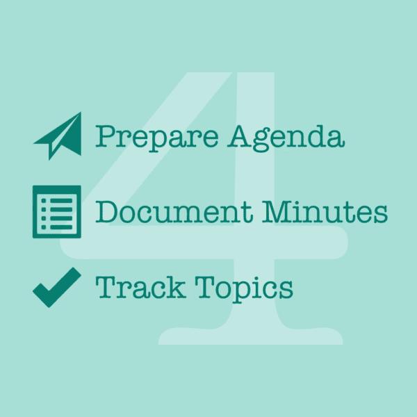 4minitz logo, prepare agenda, document minutes, track topics