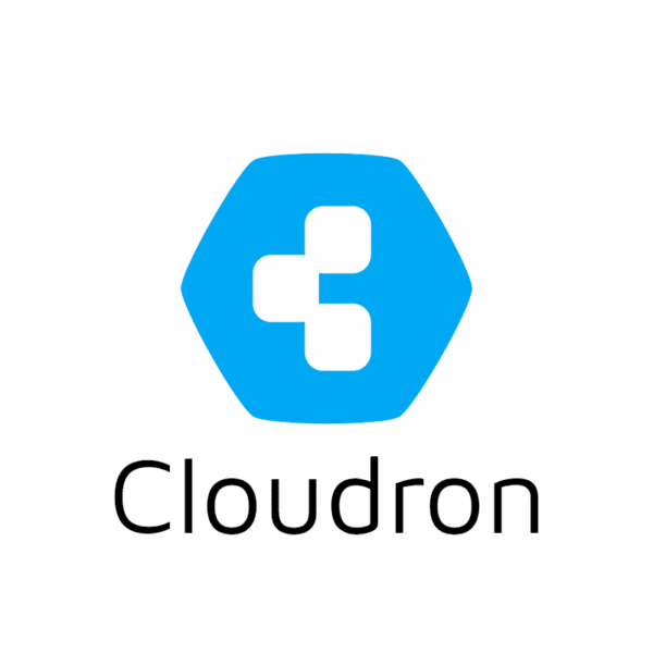 cloudron logo blue on white