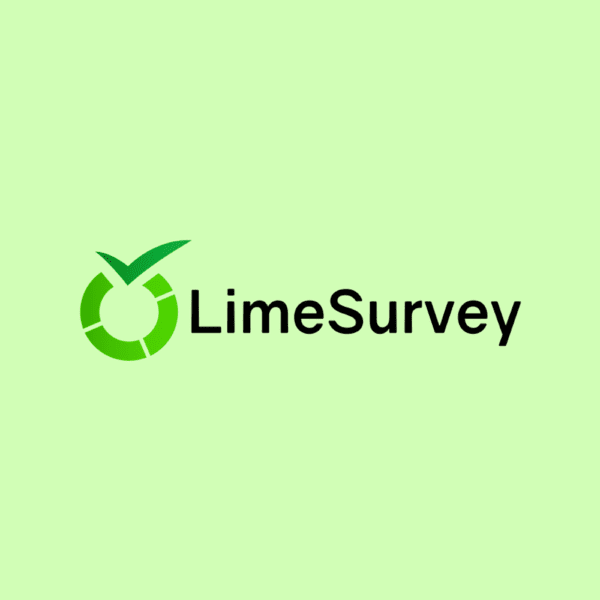 lime survey logo green and black on green